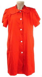 Sporty Andre Van Pier Red Shirt Dress 10 Reg $695