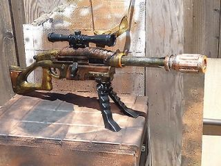 MODIFIED bolt action SNIPER Rifle 75+ ft wScope & Bi Pod NERF TYPE gun
