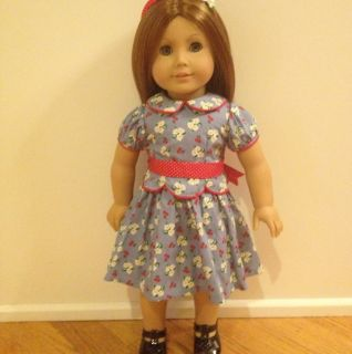 American Girl Emily Doll In Meet Dress Pleasant Company Like New