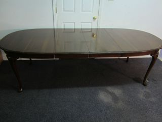 ETHAN ALLEN QUEEN ANNE DINING TABLE 102 WOW