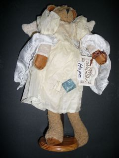 Collectible Teddy Tompkins Hope White Angel Bear