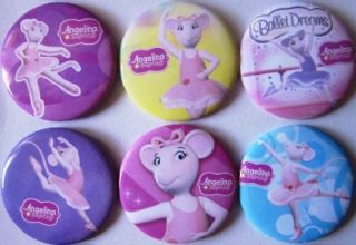 new angelina ballerina buttons 12 pins party favors