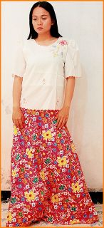 Philippines Filipiniana Costumes Skirt Balintawak New