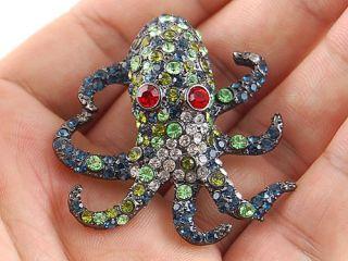 Blue Sea Creature Animal Octopus Monster Crystal Rhinestone Costume