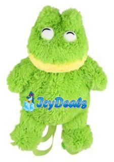 Cuddlee Backpacks Soft Plush Animal Back Pack Frog