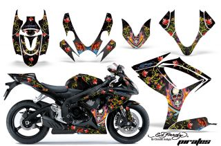 AMR Bike Sticker Kit Suzuki GSXR 600 750 06 07 Ed Hardy