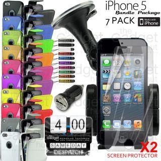 accessory bundle kit flip case silicone car holder charger pen
