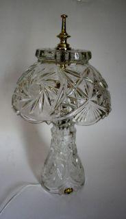 Crystal Lamp Vintage Original Tagzajecar Yugoslavia Crystal Table Lamp