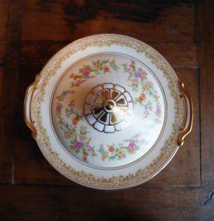 Antique Noritake China Medean Pattern Lidded Sugar Bowl RARE Circa
