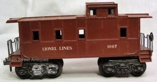 Vintage Pre War LIONEL LINES 1007 Burgundy Caboose Train O Gauge