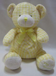 Animal Alley My 1st Teddy Bear Yellow White Plush Rattle Stuffed