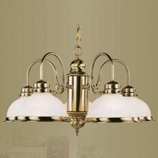 Fixture 8105 01 5 Light Home Basics Antique Brass Chandelier