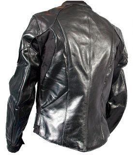 Vanson Black Leather Perforated Motorcycle Jacket Cobra Bike Coat $496