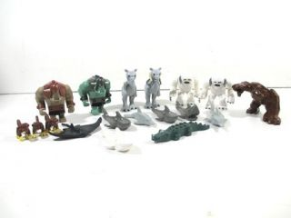 Lot of 17 Lego Animals Star Wars Monsters Mini Figures Legos Minifigs