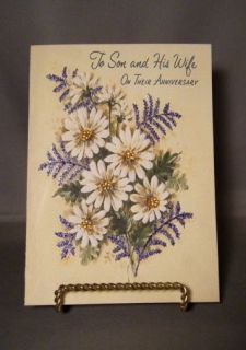 Handmade Greeting Card Vintage Anniversary to Son Wife