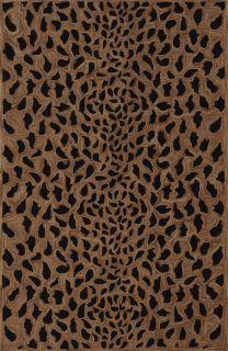 Modern Animal Print Leopard Spots Cheetah Area Rug Gold Black 5x7 5x8
