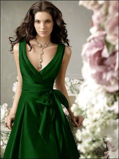 New Emerald Green Formal Evening Bridesmaid Cocktail Bridal Party