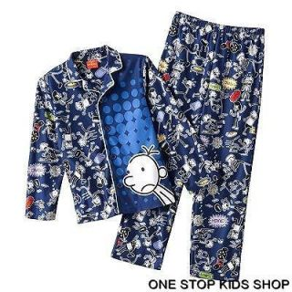 DIARY OF A WIMPY KID Boys 6 Flannel Pjs Set PAJAMAS Shirt Top Pants