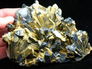 39lb RARE Yellow Antimony w Super Stibnite Specimen