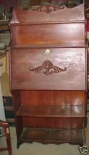 Antique Secretary Desk Hutch Beautiful Wood Wooden See