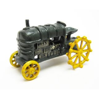 Dark Green Antique Replica Cast Iron Farm Toy Tractor