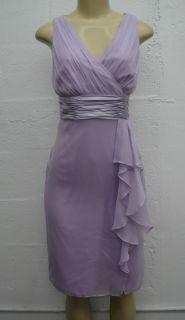 Tahari Women Dress 100 Silk Anna Bella Sleeveless Lilac Purple Size