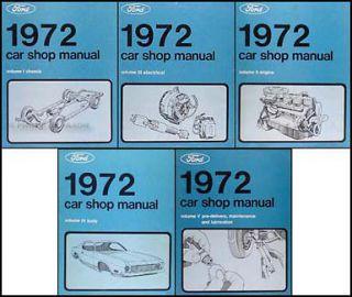 1972 Lincoln Shop Manual Set 72 Mark IV Town Car Continental Service