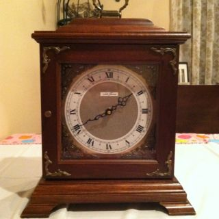Antique Vintage Seth Thomas Clock Mantel Shelf Desk Clock Wood