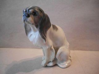 Antique ROSENTHAL Porcelain Cavalier King Charles Spaniel Dog Figurine