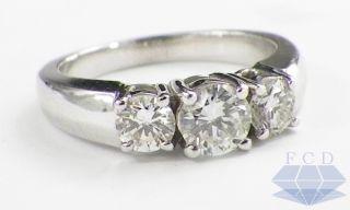 VS2 Diamond Three Stone Anniversary Engagement Ring White Gold