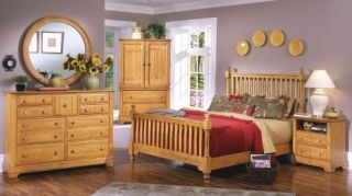 Vaughan Bassett Cottage Antique Pine Queen Bedroom Set