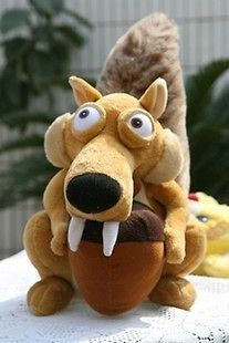 ICE AGE 3 SCRAT SQUIRREL Stuffed PLUSH TOY DOLL 7.5 BRAND NEW