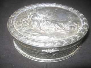 Antique Jewelry Box, late 19th/ early 20th Century, Silver Plated
