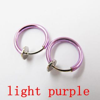 Clip on Ball Fake Hoop Body Nose Lip Ear Ring Piercings Stud Earrings