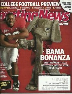 Alabama Crimson Tide Mark Ingram 2010 Sporting News Bama Bonanza Roll