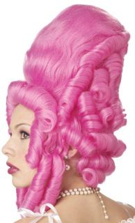 New Pink Marie Antoinette French Baroque Fancy Dress Adult Costume Wig