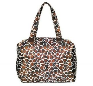 New Fashion Ladies Fold Flat Luggage Purse Beach Travel Bag Brown