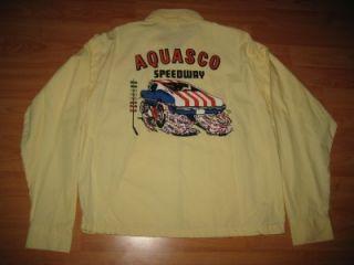 Vintage 1960s Aquasco Speedway Hot Rod Car Club NHRA Jacket