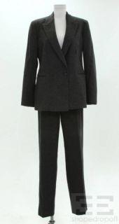 Armani COLLEZIONI 2 Piece Dark Grey Cashmere Wool Jacket Pants Suit