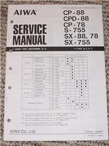 AIWA CP/CPD 88 CP 78 S 755 Stereo System Service Manual