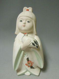 japanese ceramic hakata ningyo doll 18cm bird from japan time