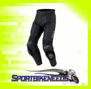 Alpinestars Apex Track Black White Leather Pants New 30 / 46