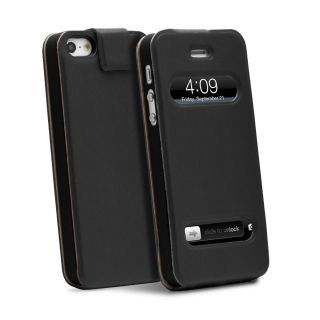 shift lx flip synthetic leather case for apple iphone 5 black
