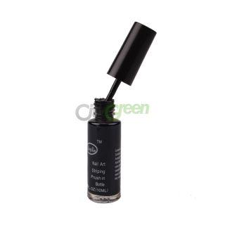 Glitter Nail Art Striping Brush Polish Varnish Black C 28