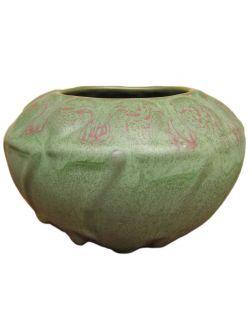 Superb Antique Van Briggle Art Pottery Squat Vase F9713