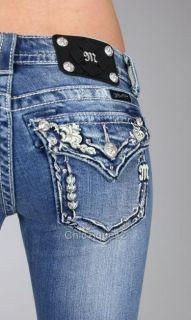 Miss Me Jeans Sweetheart Border Denim Boot Cut JP5501B