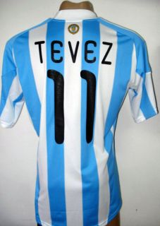 WC 2010 Argentina Home Soccer Jersey Shirt Tevez 11