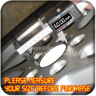 6cm Aluminium Center Centre Wheel Alloy Hub Cap Sticker Badge Emblem