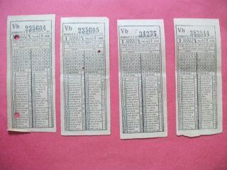 VERY VERY RARE VINTAGE ANTIQUE TRAM BUS TICKETS OF MUMBAI INDIA YEAR