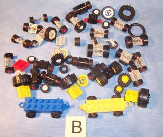 Lot Lego Special Parts Car Truck Wheel Axle Tire Brick Block Piece B